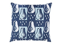 Pears Square Scatter Cushion 45 x 45cm, Dutch Blue