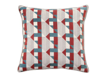 Piccadilly Cushion, 43 x 43 cm, Claret & Teal