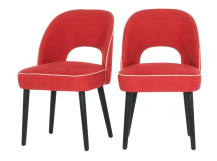 2 x Rory Dining Chairs, Coral Red