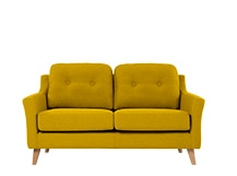 Rufus 2 Seater Sofa, Mustard Yellow
