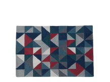 Henrik Hand Tufted Rug 120 x 180cm, Grey and Red Multi
