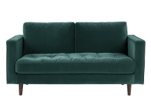 Scott 2 Seater Sofa, Petrol Cotton Velvet
