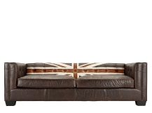 Edward Jack 3 Seater Sofa, Vintage Brown