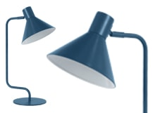 Truman Task Table Lamp, Matt Memphis Blue