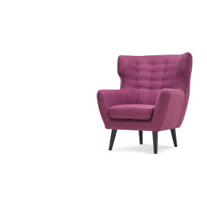 Kubrick Wing Back Chair In Plum Purple Made Com