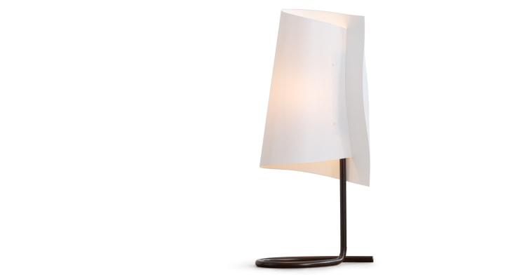 Rhapsody tall table lamp white for Tall slim lamp table