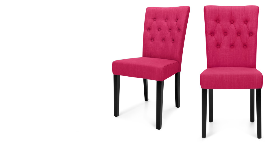 Pair Of Flynn Cassis Pink Dining Chairs