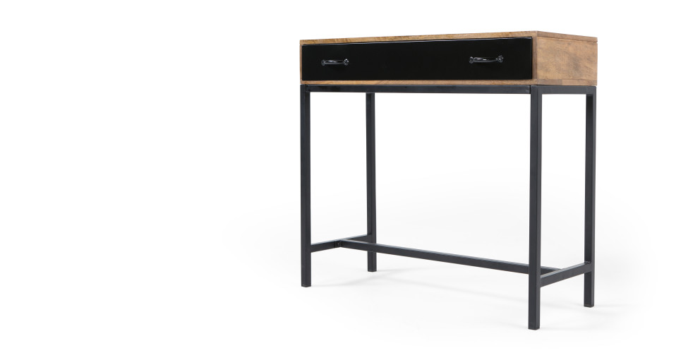 lomond console bois de manguier et acier noir le fait main. Black Bedroom Furniture Sets. Home Design Ideas