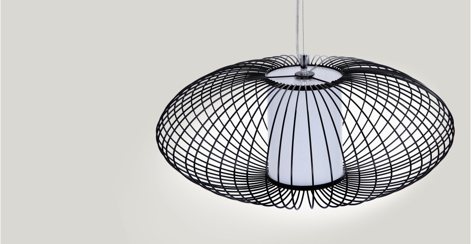 Cage, suspension, noir | made.com