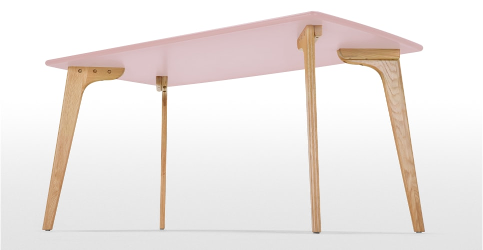 Fjord table rectangulaire ch234ne et rose poudr233 madecom : fjordrectangulardiningtableoakpinklb04 from www.made.com size 965 x 500 jpeg 24kB