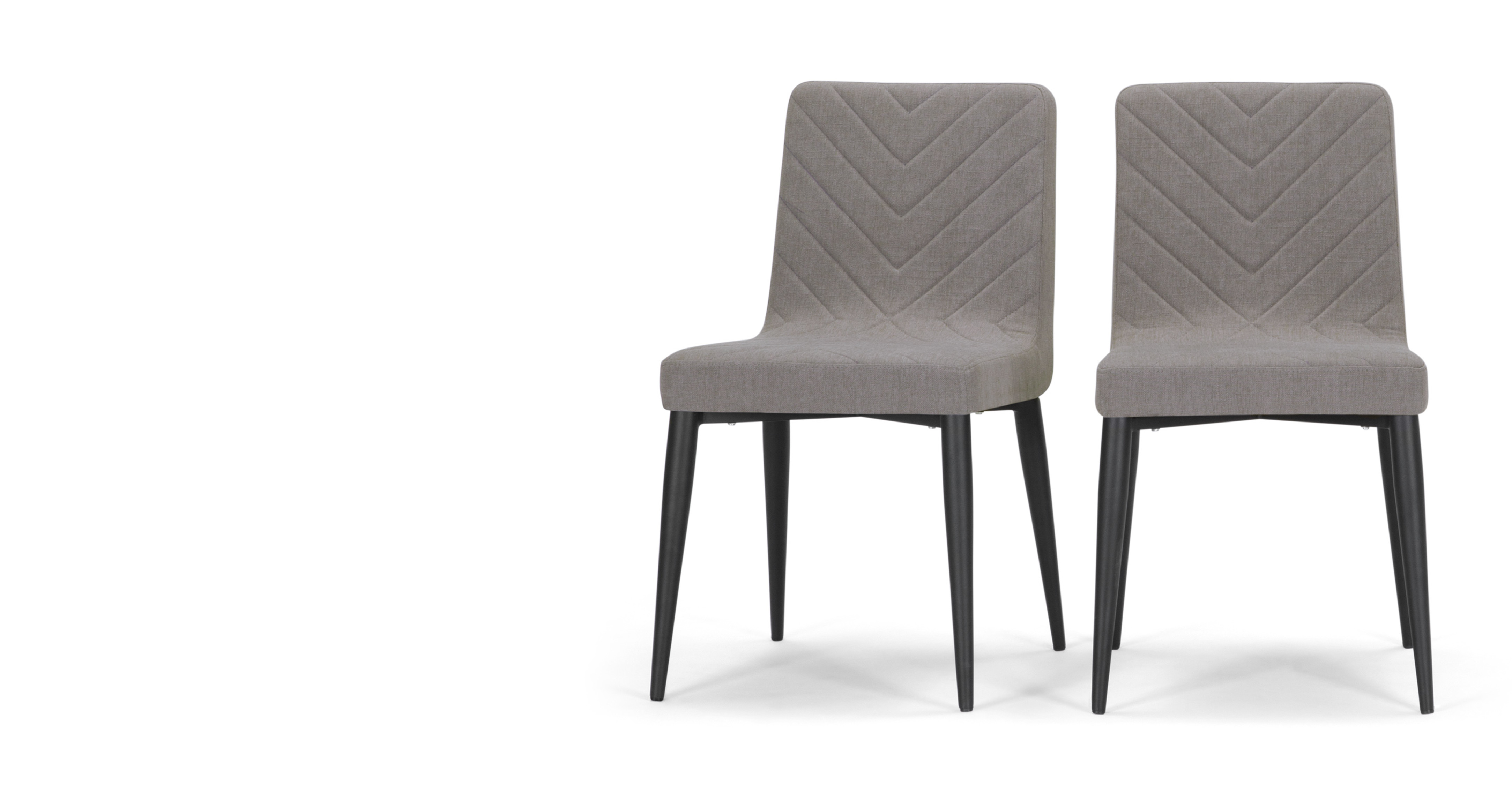 2 x lex dining chairs graphite grey for Made dining chairs