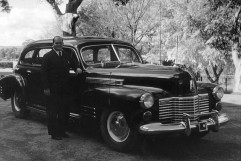 Alf Stafford with the prime minister's car, 'C 1'. He worked for 11 Australian prime ministers and was a confidant to one in particular, Robert Menzies. (picture: AIATSIS Collection, courtesy Michelle Flynn.)