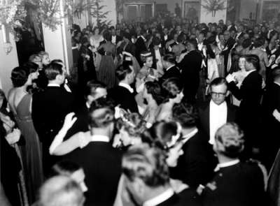 A photo of Princess Alexandra's ball held in King's Hall, 1959