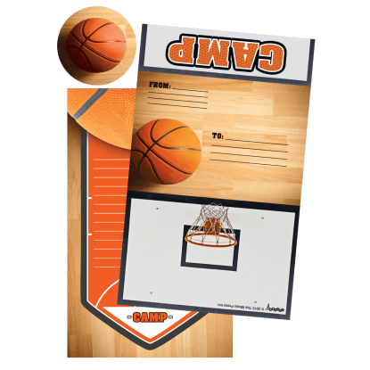 Picture of Basketball Foldover Cards