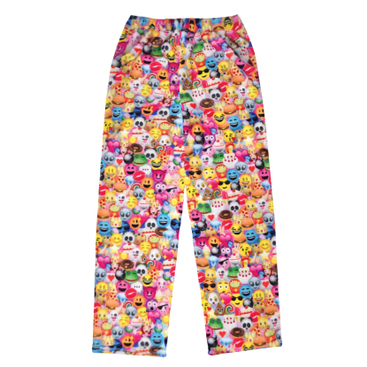 Picture of Emoji Collage Plush Pants