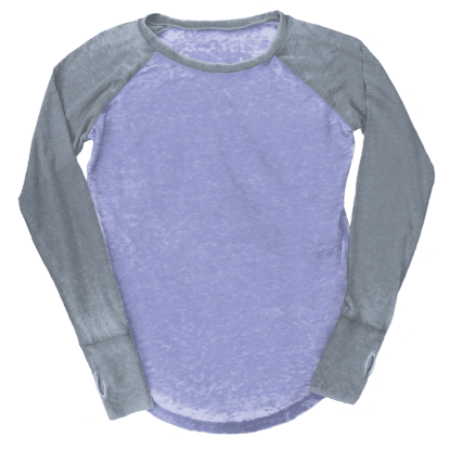 Picture of Burnout Purple/Grey Baseball Shirt