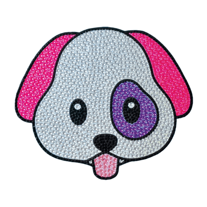Picture of Emoji Dog Rhinestone Decals