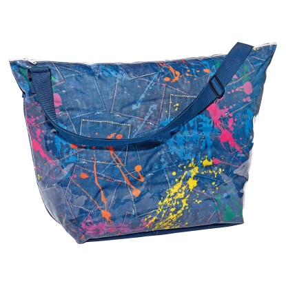 Picture of Paint Splatter Denim Weekender Bag