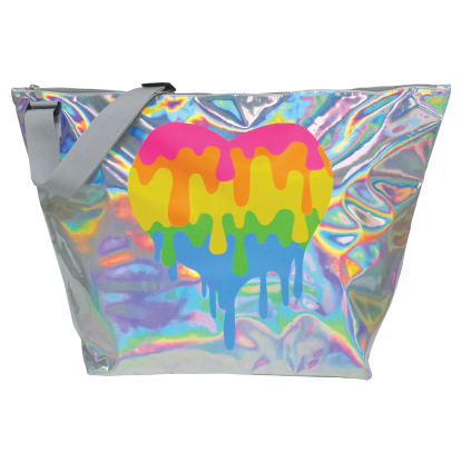 Picture of Dripping Heart Holographic Weekender Bag
