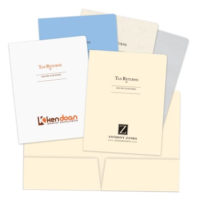 Picture of Printed Tax Return Folders