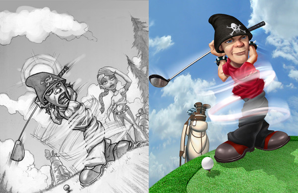 Hot Shots Golf Fore, Concept Art
