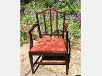 Georgian mahogany armchair