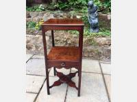 Georgian mahogany bedside table