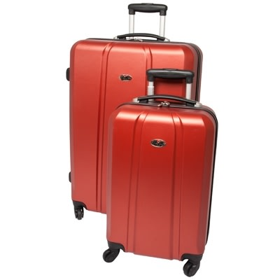 Swiss Case Diamond Red 28 2 PC Spinner Suitcases