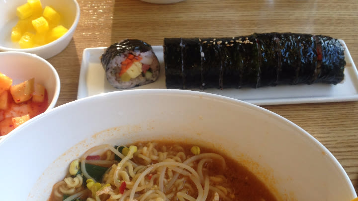 Our first gimbap.