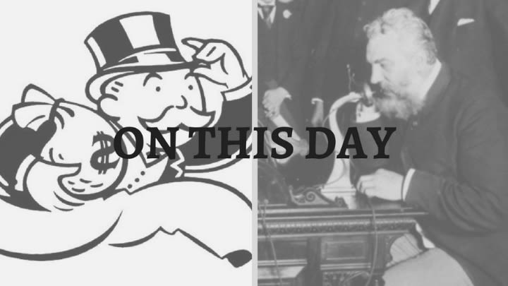 The monopoly man and Alexander Graham Bell.