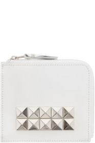 꼼데가르송 가죽지갑 스터디드블랙 Comme des Garçons Wallets White Leather Studded Wallet