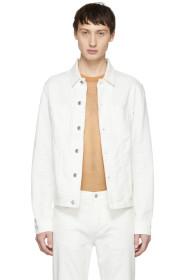 아크네 스튜디오 Acne Studios White Blå Konst Denim Pass Jacket