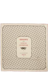 구찌 Gucci Ivory Logo Stamp Scarf
