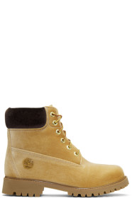 Tan Timberland Edition Velvet Boots