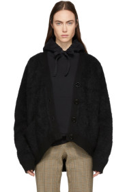 아크네 스튜디오 Acne Studios Black Mohair Rives Cardigan
