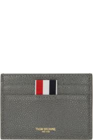 Thom Browne 톰 브라운 SSENSE Exclusive Grey Single Card Holder