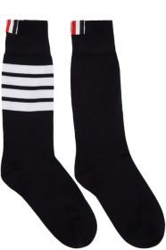 Thom Browne 톰 브라운 Navy Lightweight Cotton Mid-Calf Socks