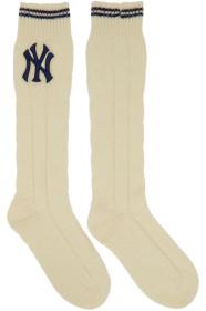 구찌 Gucci White NY Yankees Edition Monoce Socks