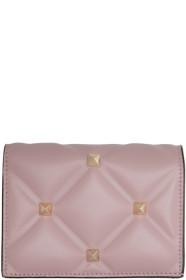 Pink 발렌티노 Valentino Garavani Candystud Flap French Wallet