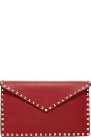 Red 발렌티노 Valentino Garavani Rockstud Envelope Pouch