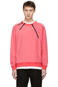 Pink 3 Zip Sweatshirt