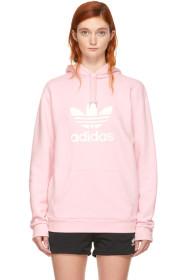 아디다스 Adidas Pink Warm-Up Hoodie