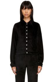 Black Velvet Popper Tracksuit Jacket