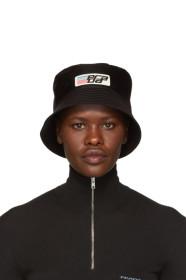 프라다 Prada Black Nylon Logo Bucket Hat
