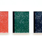 Michael Bell-Smith, Composition Books: Red, Green, Blue, 2009, digital inkjet print (in three panels), 19 x 14 1/2 in. (48.3 x 36.8 cm.) MBS_FP1358