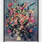 Sara Cwynar, Contemporary Floral Arrangement 5 (A Compact Mass), 2014, chromogenic print on matte paper mounted to Dibond, 60 × 44 in. ( 152.40  × 111.76  cm)
