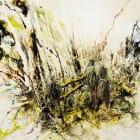 Violet Hopkins, Jungle with Jaguar, 2006, Ink on paper, 40 x 60 in. / 101.6 x 152.4 cm.