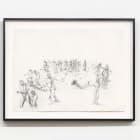 JP Munro, Fleeing Women, 2009, pencil on paper, 22 1/2 x 30 in. (57.15 × 76.20 cm.)