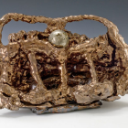 Sterling Ruby, Crime Against Nature, 2009, ceramic and pyrite sphere, 23 x 13 1/2 x 9 in. (58.4 x 34.3 x 22.9 cm.,) SR_FP1290