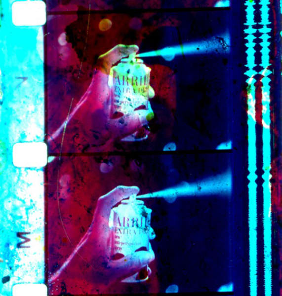 Arrid Extra Dry 1965 TV Commercial Film (16mm film print painted with birth control pills, writing inks and sweat - bought from a Brooklyn, New York street vendor)